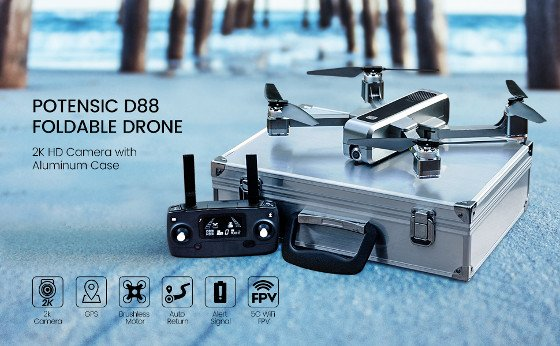 Potensic D88 Review – Cool Foldable Drone With 2K Camera And Dual GPS