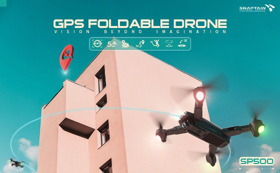 Snaptain SP500 Review – Cheap Foldable Drone With An HD Camera