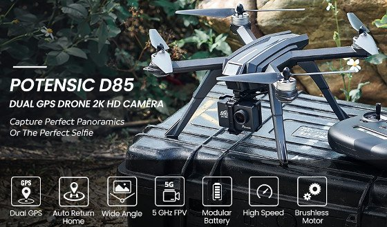Potensic D85 Review – A Good 2K Drone That Comes With An Interchangeable Camera