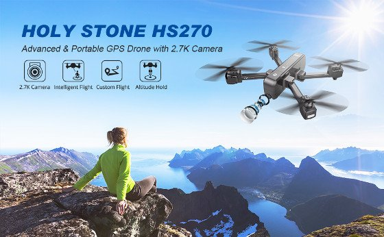 Holy Stone HS270 Review – A Good Drone With A 2.7k Camera